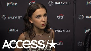 Millie Bobby Brown On Her March For Our Lives Jacket At Kids' Choice; 'Stranger Things' Fans