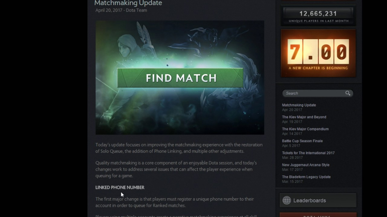 team matchmaking dota 2