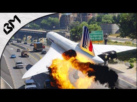 GTA 5 - ATTERRISSAGE D'URGENCE - Moteur en feu - Flight Simulator