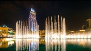 Dubai Fountain -Kiss Goodbye,The Magnificent Seven, Baba Yetu