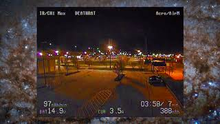 FatShark Dominator V3 FPV Goggle Night Footage | Flying the shut down Best Buy lot with Narrowdeep