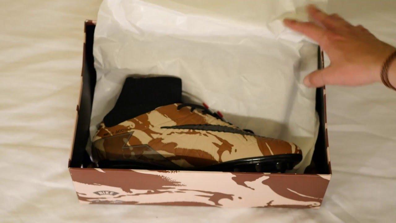 58e29b8ff9d2 Unboxing Nike Hypervenom Phantom II Camo   Black - YouTube