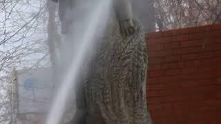 Студенты СГАУ за 15 минут отмыли памятник Николаю ВавиловуMVI 7487