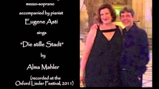 "Sarah Connolly sings:  ""Die stille Stadt"" by Alma Mahler"