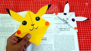 Easy Pikachu DIY Bookmark Corners (Paper Crafts)