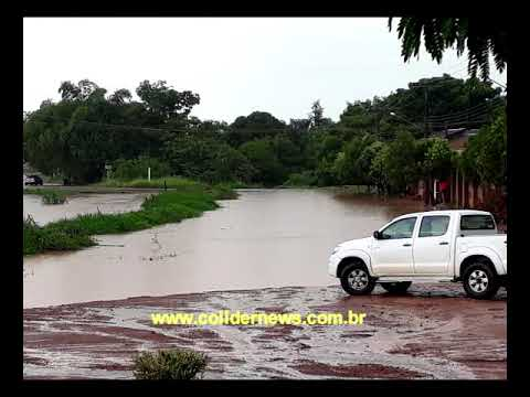 Nova enchente no Rio Jaracatiá de Colíder invade casas.(Fotos