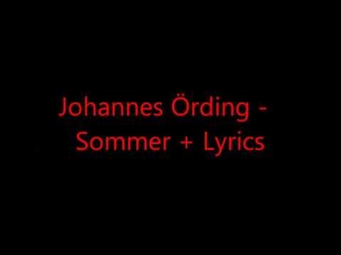 Johannes Örding - Sommer + Lyrics