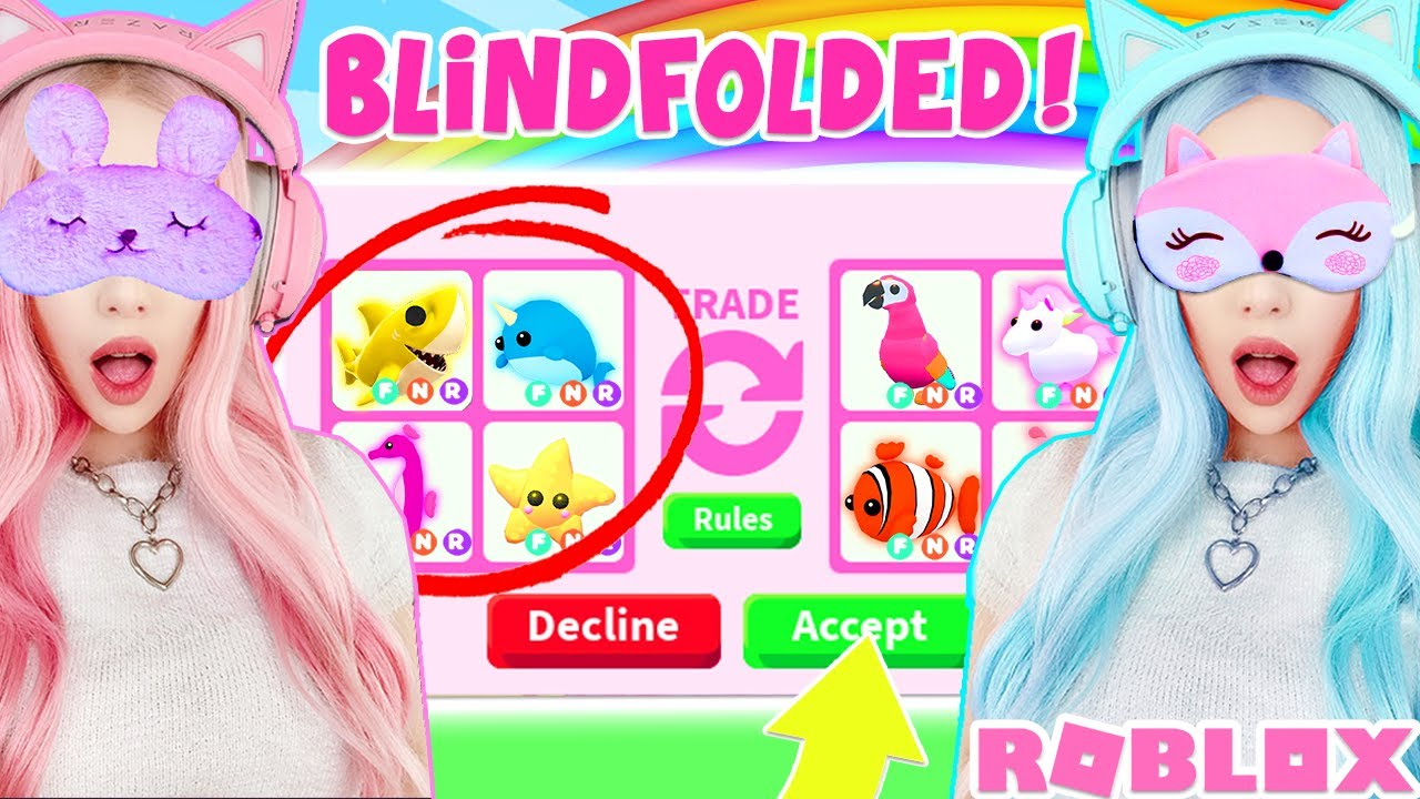 I Challenged My Twin To A Blindfolded Trade Challenge In Adopt Me