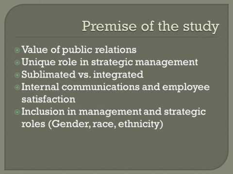 Excellence in Public Relations Theory