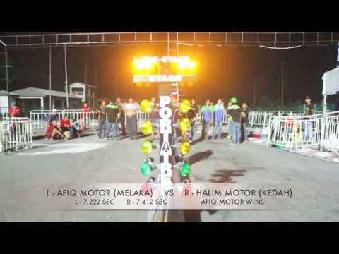 DRAG RACE 201M - KING DRAG BIKE OPEN - RKM KBS MALAYSIAN DRAG RACING 2013 R2 Travel Video