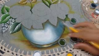Roberto Ferreira – Pintura Vaso e Folhas