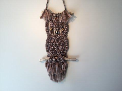 OWL WALL HANGINGS - MACRAME TUTORIAL