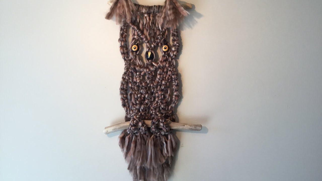 Owl Wall Hangings Macrame Tutorial Youtube