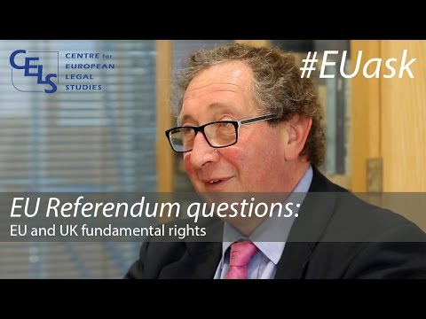 EU Referendum questions: EU and UK fundamental rights