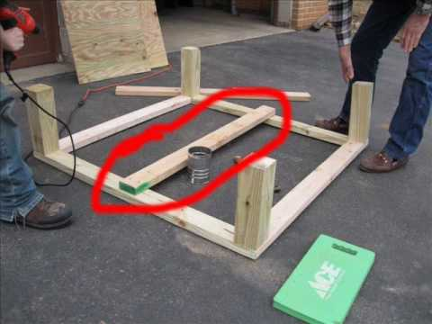 How To Make A Wooden Deer Stand Base Youtube