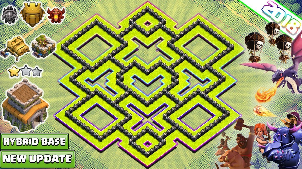 new town hall 8 th8 trophy base 2018 coc best th8 base design