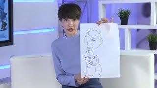 Обновляем старые джинсы: рисунок в стиле графики Матисса