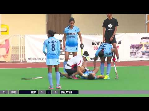 India v Malaysia Full Hockey Game (Day 3 - 1st Nov) 4th Women's Asian Champions Trophy 2016