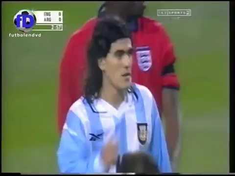 "England v Argentina 2000 ""Friendly"" not so friendly!! Becks vs Batigol"