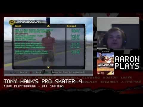 Aaron Plays (LIVE): Tony Hawk's Pro Skater 4 (GCN) - Part 2