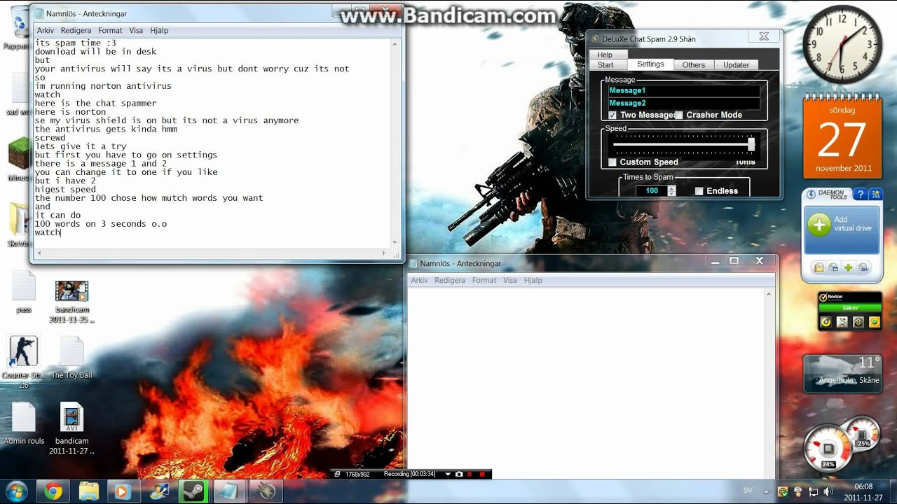 DeLuXe chat spammer Free download - YouTube