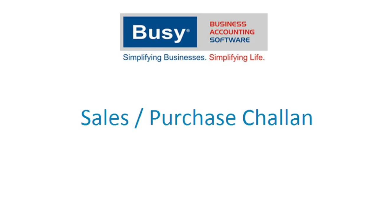 Sales And Purchase Challan In BUSY Hindi YouTube - Create fake invoice for service business