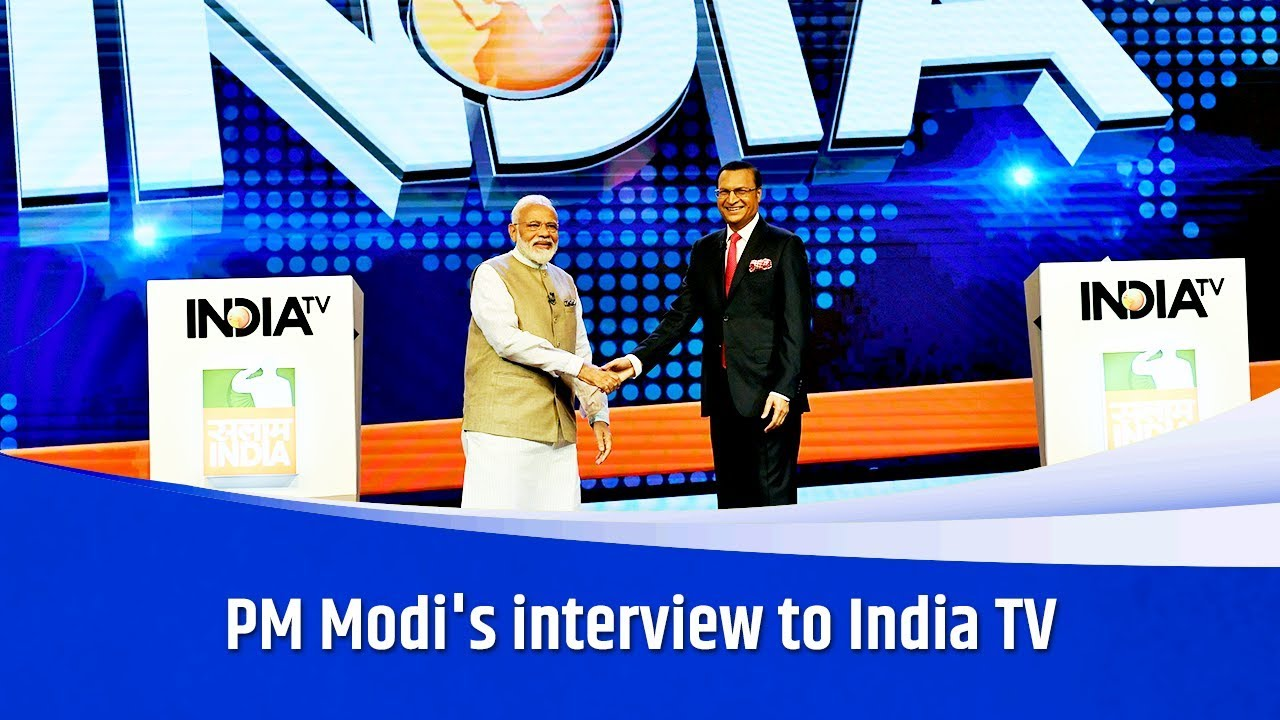 PM Modi's interview to India TV