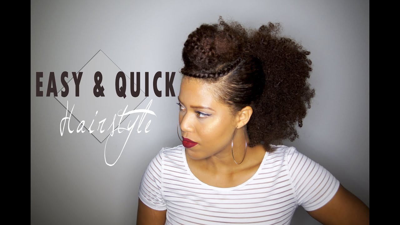 Easy & Quick hairstyle for your old Wash and Go | Natural hair - YouTube