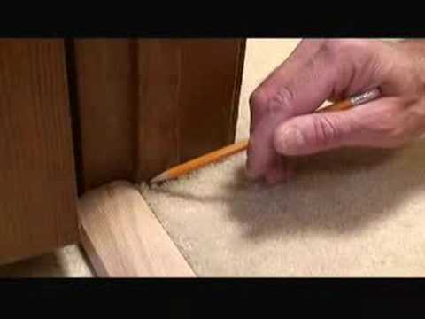 Installing Carpet Transition Trim Video Youtube