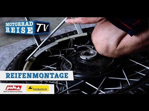 Motorradreifen Von Hand Montieren Youtube