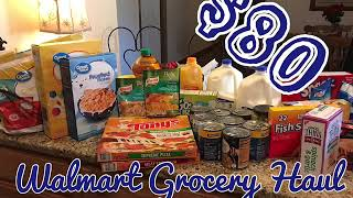 $80 Walmart Grocery Haul | Family of 5