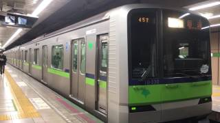 10-300R編成大島検車区入区回送大島駅発車