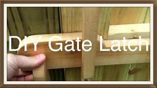 Wood Gate Latch