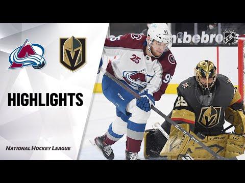 Avalanche @ Golden Knights 2/16/21 | NHL Highlights