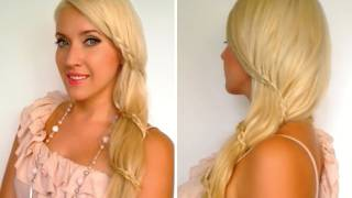Spiral lace braid Romantic carousel braid Prom wedding hairstyles for long hair