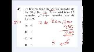 Prueba Modelo Universidad Simón Bolivar USB Propedéutico Profesor José Barreto #010814