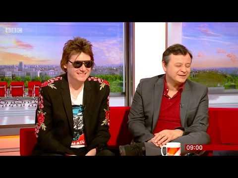Manic Street Preachers interview on BBC Breakfast. Nicky Wire & James Dean Bradfield. 16 Apr 2018