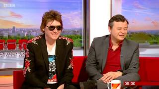 Manic Street Preachers interview on BBC Breakfast. Nicky Wire & James Dean Bradfield. 16 Apr 2018