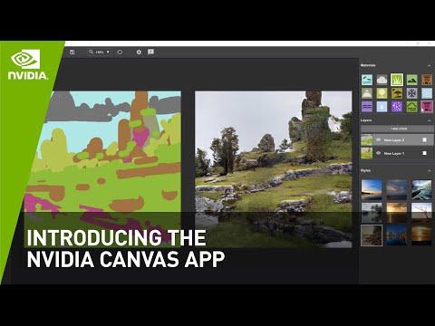Introducing the NVIDIA Canvas App - Paint With AI | NVIDIA Studio