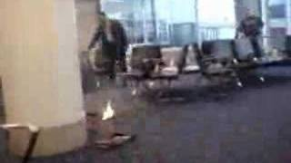 LAX Laptop Fire