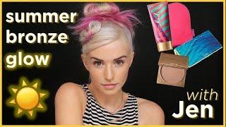 summer bronze glow makeup