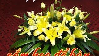 Flowers#Cắm hoa#Cách cắm hoa ly kết hợp hoa hồng vàng để bàn#nhanh gọn#đơn giản#rực rỡ