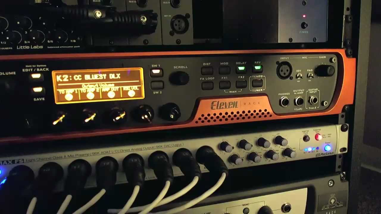 how to use the avid eleven rack 3 front panel guitar effects tutorial youtube. Black Bedroom Furniture Sets. Home Design Ideas