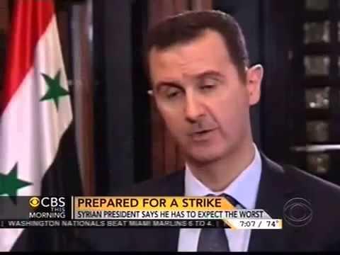 Syrian President Bashar al Assad Charlie Rose Interview, Rose tries to bait Assad and it backfires!