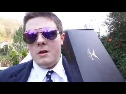 c4464dcba59 LUENX Aviator Sunglasses Polarized UV 400 Protection (PURPLE) Unboxing And  Review