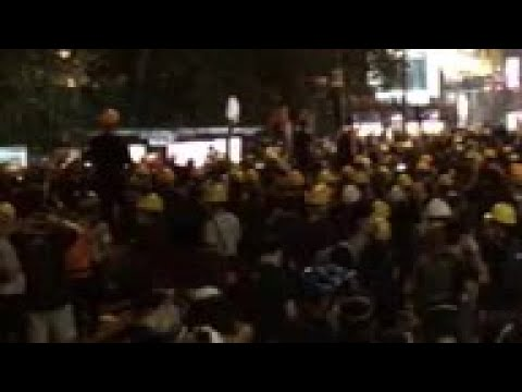 Police fire tear gas at pro-democracy protesters