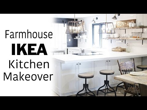 White Ikea Kitchen Tour & Room Makeover, Modern, Farmhouse, Industrial Design, DIY Renovation