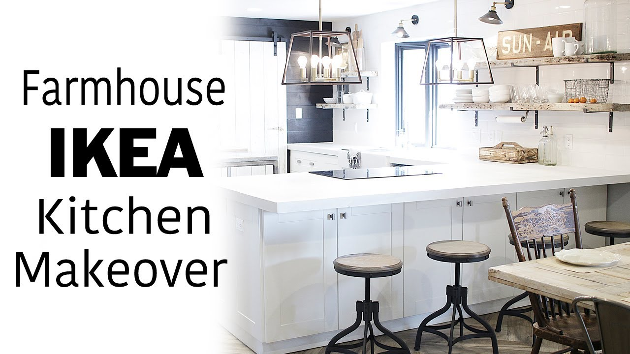Ikea Kitchen Design Visit White Ikea Kitchen Tour Room Makeover Modern Farmhouse