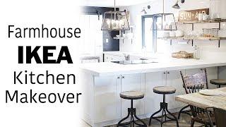 White Ikea Kitchen Tour & Room Makeover, Modern, Farmhouse, Industrial Design, DIY Renovation