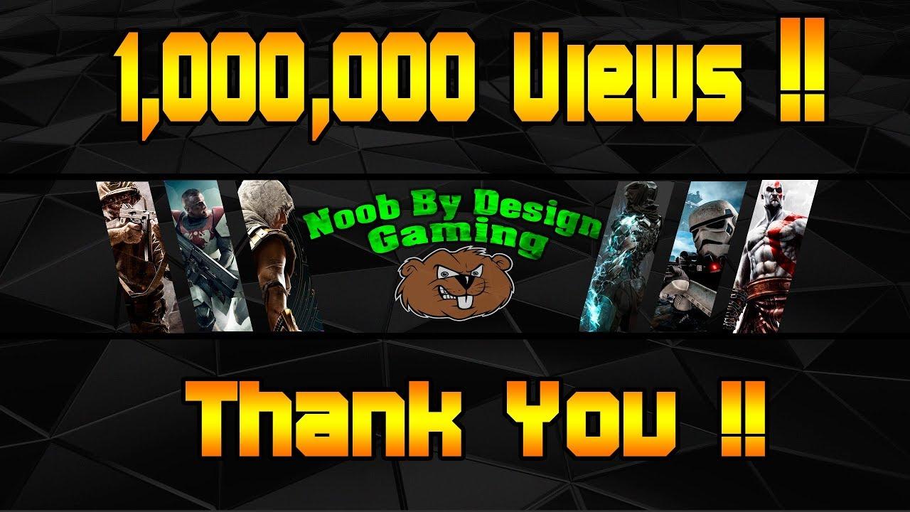 thank you for 1000000 views my gaming editing setup custom